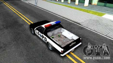 New Police Car for GTA San Andreas back view