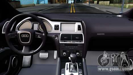 Audi Q7 Russian Police for GTA San Andreas inner view