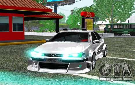 PEUGEOT 406 SL TAXI 2 for GTA San Andreas