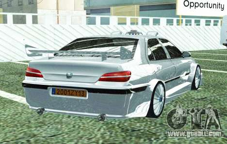 PEUGEOT 406 SL TAXI 2 for GTA San Andreas back view