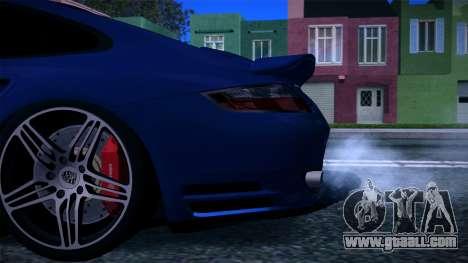 Porsche 911 Turbo 2007 for GTA San Andreas engine