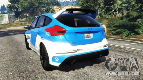 GTA 5 Ford Focus RS (DYB) 2017 [add-on] rear left side view