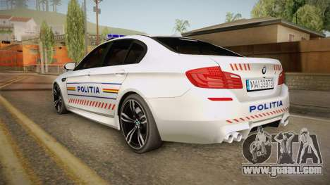 BMW M5 F10 Romanian Police for GTA San Andreas left view