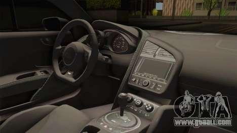 Audi R8 V10 Plus LB Performance for GTA San Andreas inner view