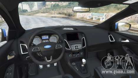 GTA 5 Ford Focus RS (DYB) 2017 [replace] rear right side view