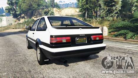 GTA 5 Toyota Sprinter Trueno GT-Apex (AE86) [replace] rear left side view