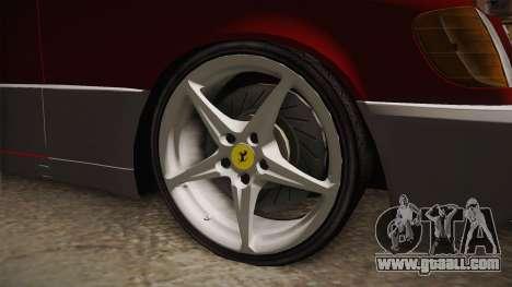 Mercedes-Benz W140 Projekt for GTA San Andreas back view
