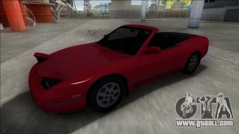 Nissan 240SX Cabrio for GTA San Andreas back left view