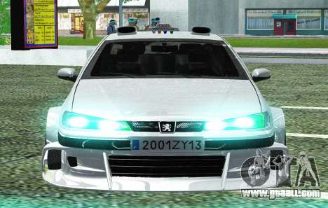 PEUGEOT 406 SL TAXI 2 for GTA San Andreas inner view