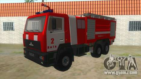 MAZ 5440 Fire for GTA San Andreas