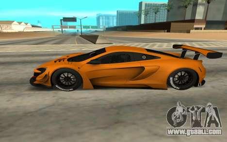 McLaren 650S GT3 for GTA San Andreas left view