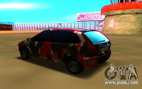 Lada Kalina 1117 for GTA San Andreas left view