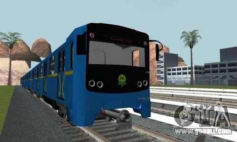 Metrostav type E-KM for GTA San Andreas back left view