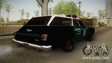 Plymouth Belvedere Station Wagon 1965 NYPD for GTA San Andreas back left view