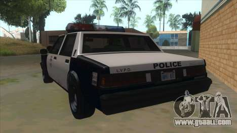 HD LVPD Police Cruiser for GTA San Andreas back left view