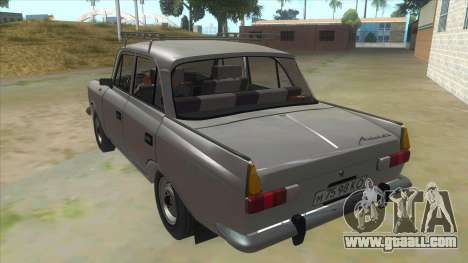 Moskvich 412 for GTA San Andreas back left view