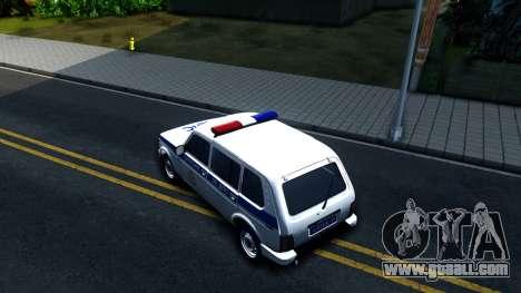 Lada 4x4 21310-59 Urban 2016 Russian Police for GTA San Andreas back view