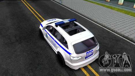 Audi Q7 Russian Police for GTA San Andreas back view
