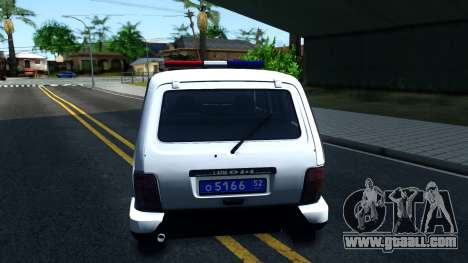 Lada 4x4 21310-59 Urban 2016 Russian Police for GTA San Andreas back left view