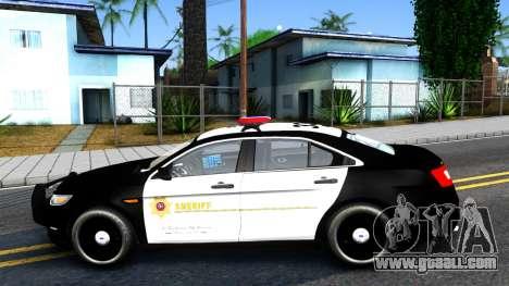 Ford Taurus LASD Interceptor for GTA San Andreas left view