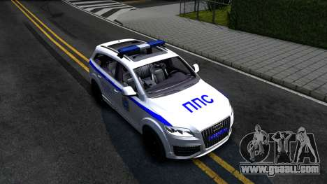 Audi Q7 Russian Police for GTA San Andreas right view