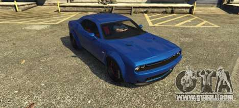 GTA 5 Dodge Challenger 2015 (Super Tuning) rear left side view