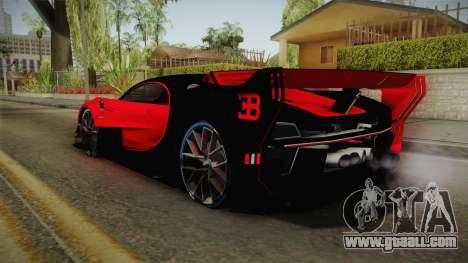 Bugatti Vision GT for GTA San Andreas left view