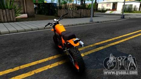 GTA V Dinka Enduro for GTA San Andreas back left view