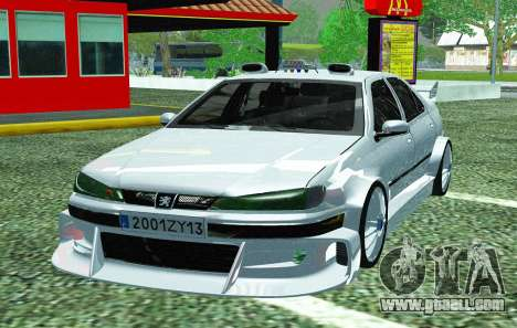 PEUGEOT 406 SL TAXI 2 for GTA San Andreas right view