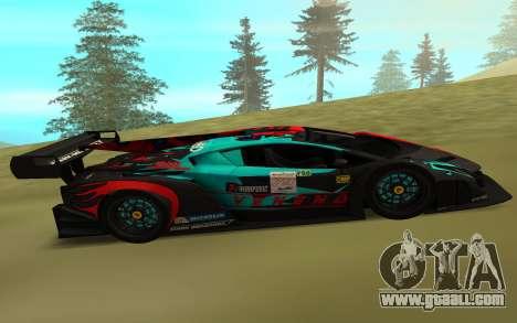 Lamborghini Veneno for GTA San Andreas left view