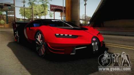 Bugatti Vision GT for GTA San Andreas right view