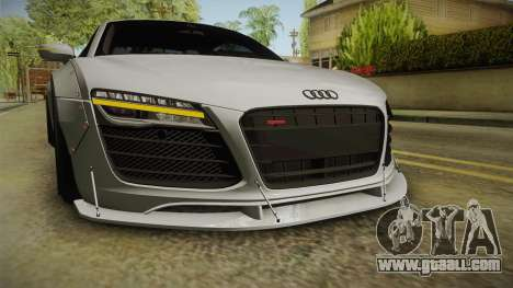 Audi R8 V10 Plus LB Performance for GTA San Andreas upper view