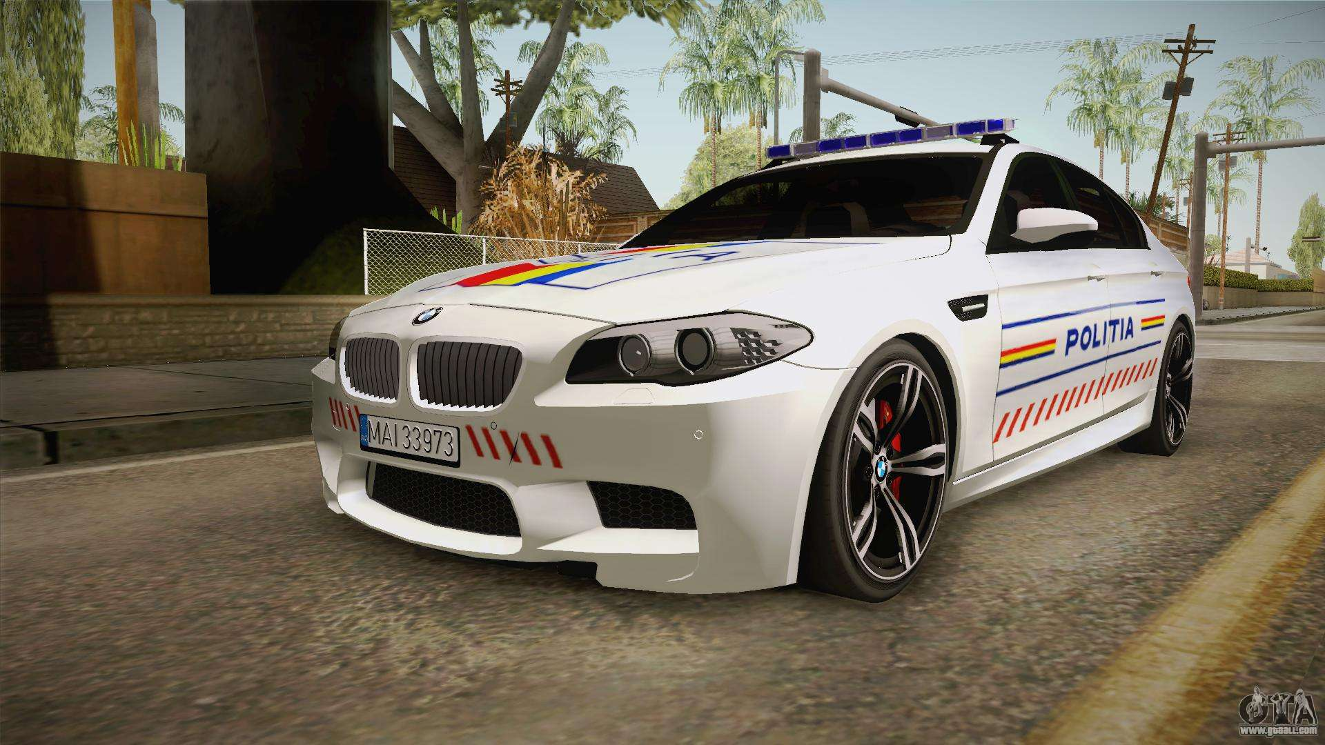 bmw m5 f10 romanian police for gta san andreas. Black Bedroom Furniture Sets. Home Design Ideas
