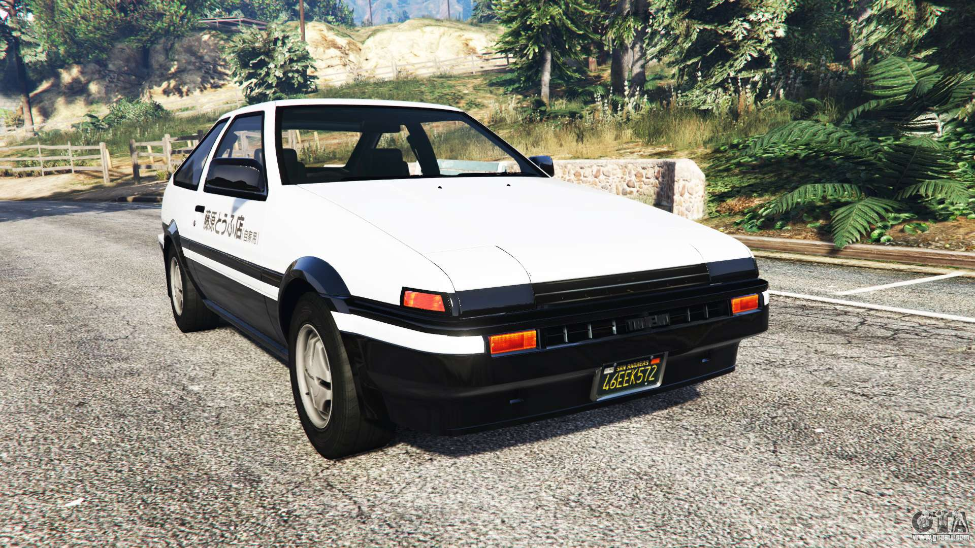 toyota sprinter trueno gt apex ae86 replace for gta 5. Black Bedroom Furniture Sets. Home Design Ideas