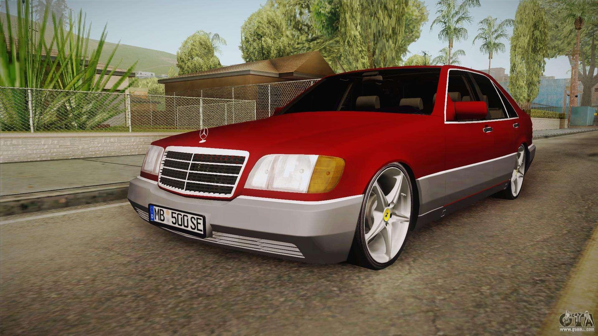 Mercedes benz w140 projekt for gta san andreas for Mercedes benz w140
