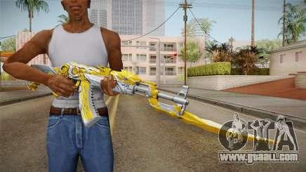Cross Fire - AK-47 Beast Noble Gold v2 for GTA San Andreas