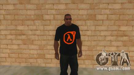 T-shirt with the logo of Half Life 2 for GTA San Andreas