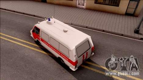 RAF 22031 Ambulance of Pripyat for GTA San Andreas back view