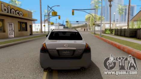 Nissan Altima 2009 for GTA San Andreas back left view