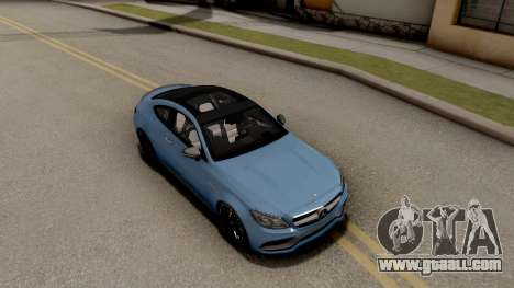 Mercedes-Benz C63S AMG Coupe for GTA San Andreas right view