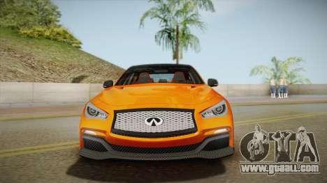 Infiniti Q50 Eau Rouge 2014 for GTA San Andreas back view