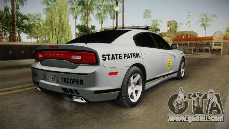 Dodge Charger 2012 Iowa State Patrol for GTA San Andreas left view