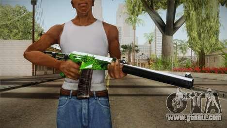 Green AK-47 for GTA San Andreas third screenshot