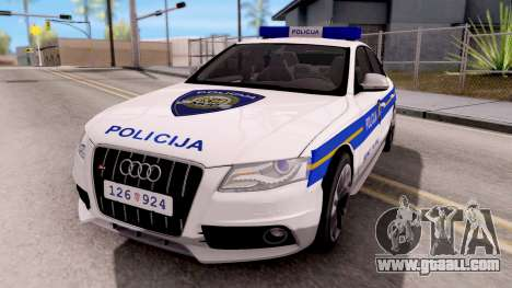Audi S4 Croatian Police Car for GTA San Andreas