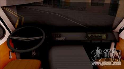 RAF 22031 Ambulance of Pripyat for GTA San Andreas inner view