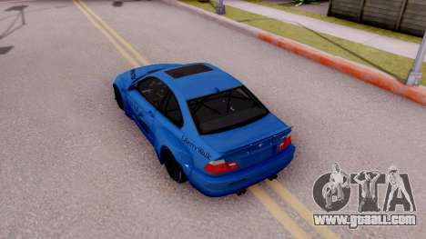 BMW M3 E46 Liberty Walk for GTA San Andreas back view