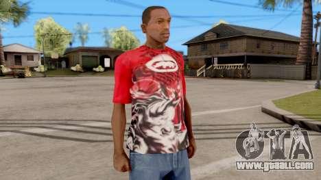Ecko Unltd T-Shirt Red for GTA San Andreas second screenshot