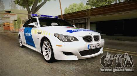 BMW M5 E60 Hungary Police for GTA San Andreas