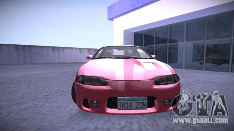 Mitsubishi Eclipse GSX for GTA San Andreas back left view