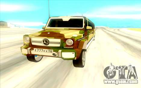 Mercedes Benz G65 for GTA San Andreas back view